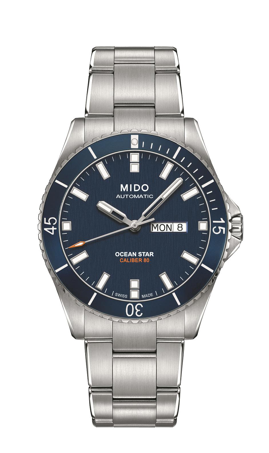 Ocean Star 潛水功能腕錶,Mido。