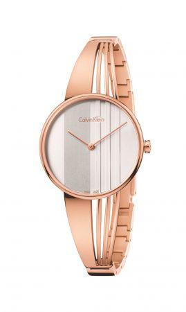 Drift 系列手鐲式腕錶,玫瑰金PVD精鋼錶殼,Calvin Klein。