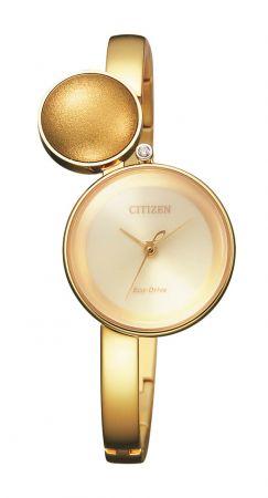 L朦月系列腕錶,黃金PVD精鋼錶殼,Citizen。