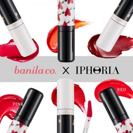 banila co.X IPHORIA將推出6色唇釉,瓶身以愛心與星星點綴。