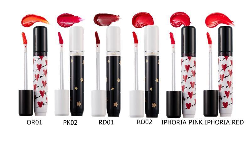 唇釉中的「IPHORIA Pink」以及「IPHORIA Red」是由IPHORIA 設計師Milena Jaeckel直接指定。