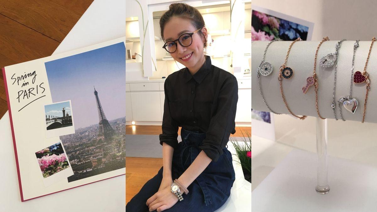 法國人都怎麼混搭飾品?Marina示範以巴黎地標為靈感的Swarovski春夏系列
