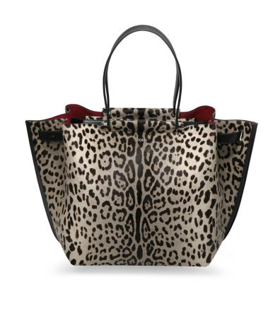 TOD'S 灰色豹紋 Wave Shopping Bag NT$100,300