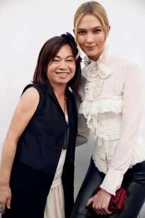 計總監王陳彩霞與超模Karlie Kloss