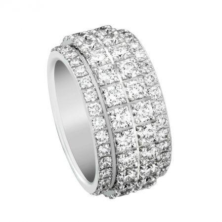 Possession 旋轉指環18K白金鑲嵌112顆圓形美鑽(約5.45克拉)台幣參考售價 860,000 元