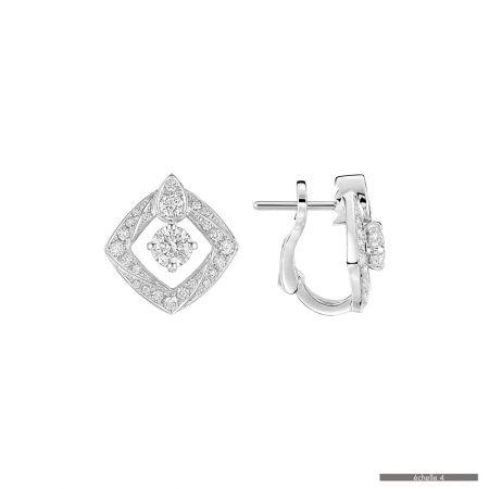 CHAUMET Josephine Eclat Floral 白金耳環建議售價 432,000