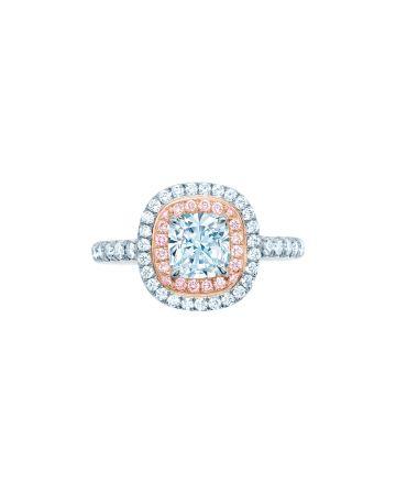 Tiffany Soleste 鑲粉鑽鑽石戒指