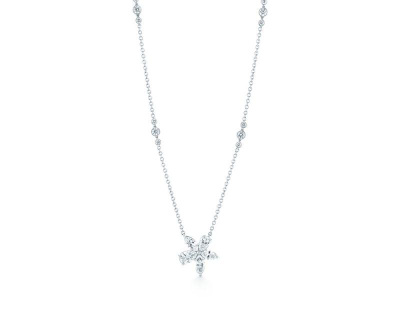 Tiffany Vicotoria 鉑金鑲鑽項鍊