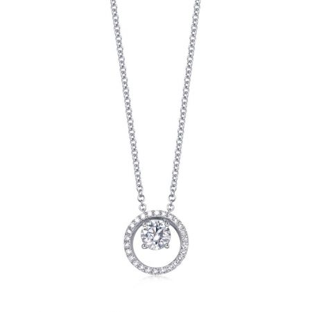 ]點睛品 Infini Love Diamond Iconic系列18K白金鑽石頸鍊 建議售價 NT$77,800