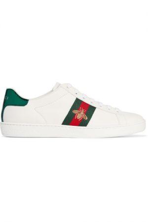 必備時尚款球鞋白色刺繡球鞋,Gucci,NT20,300。