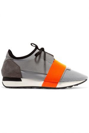 必備時尚款球鞋異材質拼接撞色球鞋,Balenciaga,NT22,000。