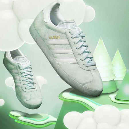 adidas Originals GAZELLE系列鞋款情境照(薄荷綠-女款) NTD3,490