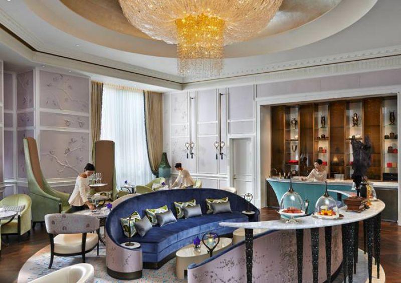 以孔雀為設計靈感優雅奢華的台北文華東方酒店青隅廳景