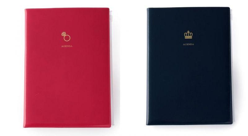 A5原創機能行事曆 戒指紅&王冠藍,售價450元