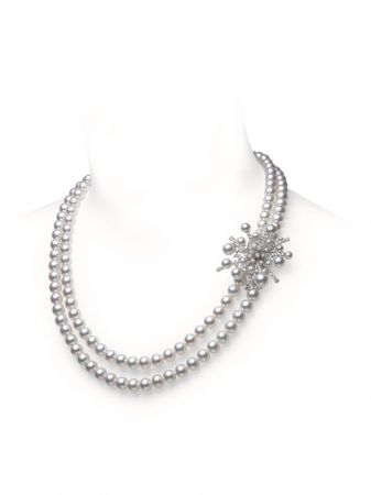 MIKIMOTO A World of Creativity 系列SPLASH高級珠寶日本Akoya真珠鑽石串鍊,1,730,000