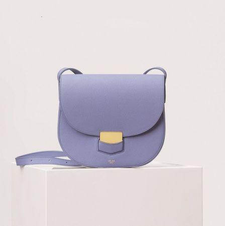 Trotteur陶瓷藍小牛皮肩背包 $68,000