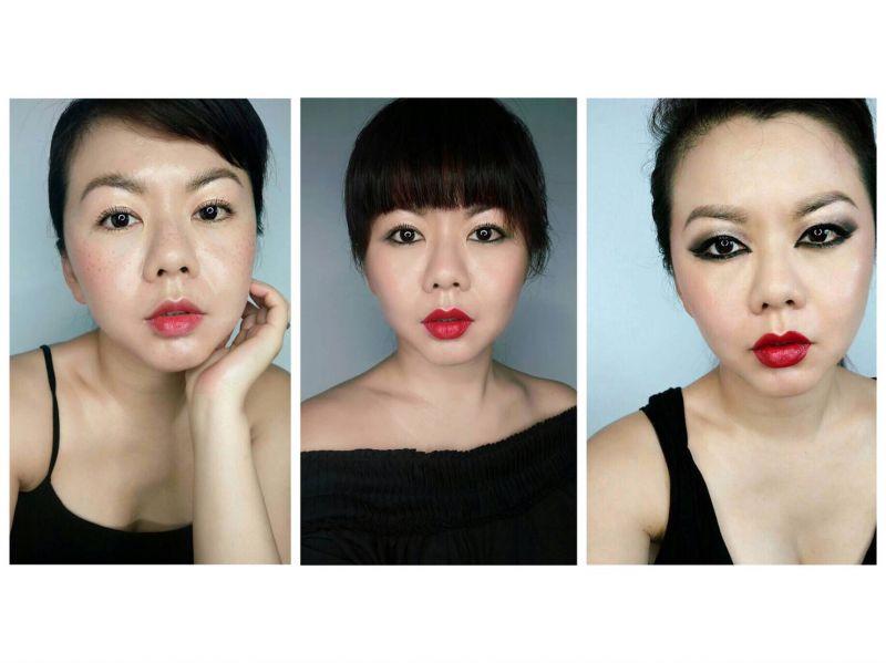 創藝彩妝藝術家Vicky示範歐洲時尚妝容