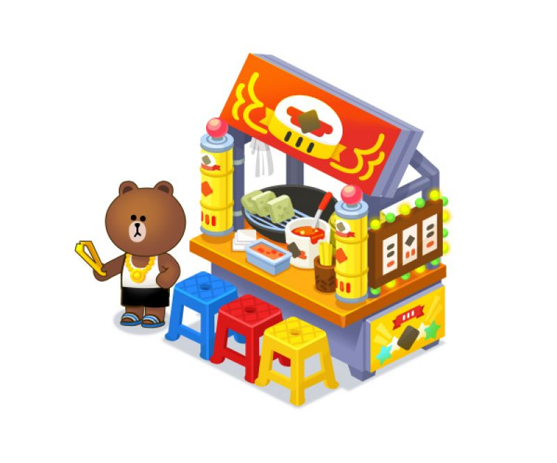 台客熊大專屬攤位搶先看,拿手菜「臭豆腐」與「胡椒餅」將同步開放玩家們製作。