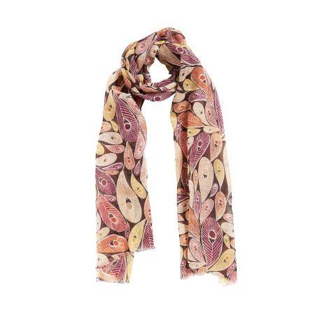AIGLE 風格羊毛圍巾-印花紫 $1,880