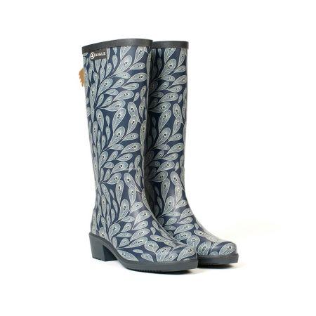 AIGLE 女 印花休閒長靴-1 $6800
