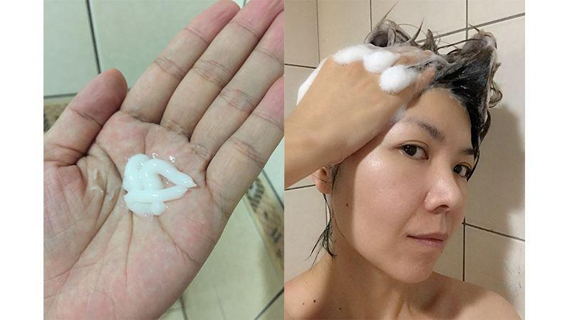 身為短髮人,用量很少,將洗髮精擠一點在手上,加點水稀釋調勻後就可以洗頭了。細緻柔滑的豐富泡泡,非常好沖洗,在淡淡花香中,為洗髮帶來全新的紓壓享受。