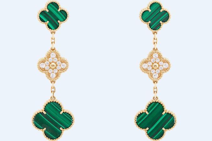 MAGIC ALHAMBRA 耳環,3枚四葉草主題圖案,售價約NT538,000