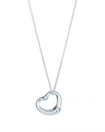 Tiffany Open Heart 16吋純銀鑲鑽項鍊 NT$25,000