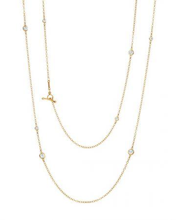 Tiffany Diamonds by the Yard 36吋18K金鑽石點綴項鍊 NT$325,000