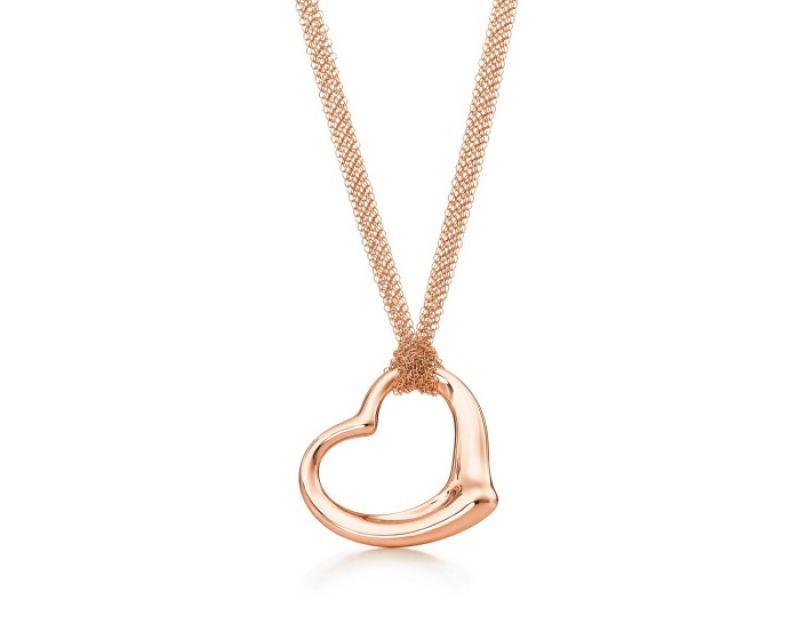 Tiffany Open Heart 30吋18K玫瑰金項鍊 NT$172,000