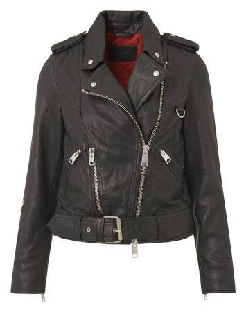 Gidley 女羊皮騎士夾克 (黑)定價21,500