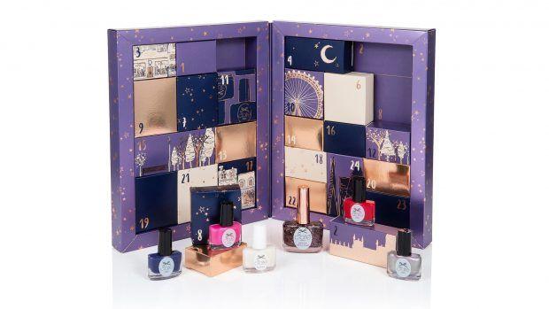 Ciate以紫色為禮盒的基本底色,搭配金和黑色圖案,有著浪漫低調奢華感,總共有24支不同顏色的迷你版小指彩,都是實用色,不用擔心用不完喔!售價為英鎊£50。
