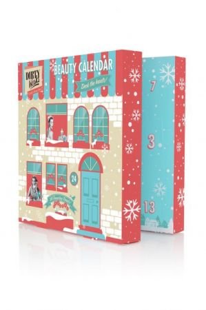 Dirty Works以小公寓裡時髦的都會女孩插畫風格為耶誕倒數月曆禮盒外包裝,裡面的小禮物超貼心!美容護理和居家身體保養系列,就是要讓妳在歡慶季節來臨前讓自己達到最好的狀態,然後亮麗地享受派對歡樂時光!售價為英鎊£15。