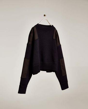 肩部絆帶針織衫NT3990