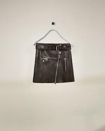 真皮短裙NT3990