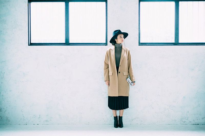 女裝羊毛混紡寬版修身大衣NT$2,990