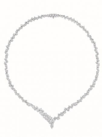 Sparkling Cluster 絢漪錦簇系列鑽石項鍊,Harry Winston