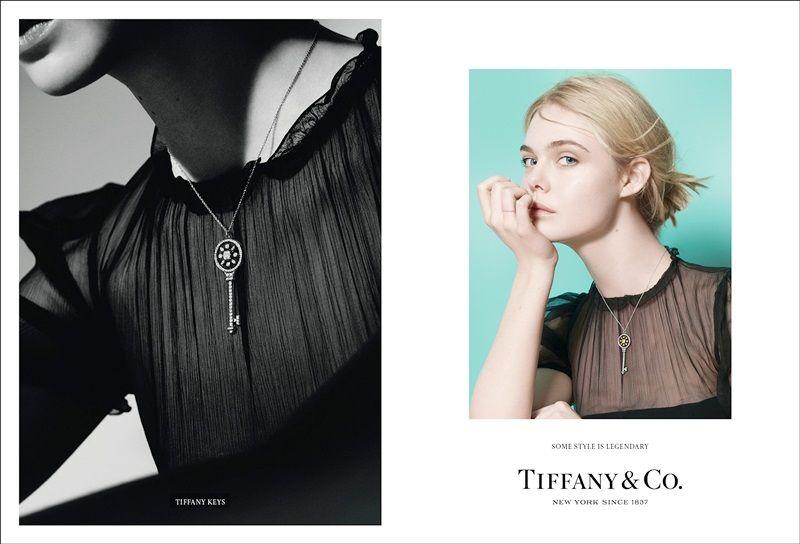 Tiffany 傳奇風格形象廣告 - 擁有無限機會的年輕夢想家 Elle Fanning,配戴象徵璀璨未來的Tiffany Keys