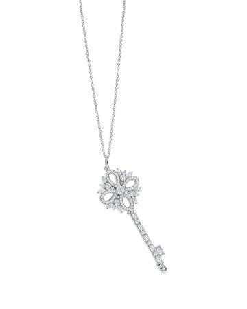 Tiffany Keys Victoria 鉑金鑽石鑰匙鍊墜 NT$401,000 (鍊墜價格,不含項鍊)