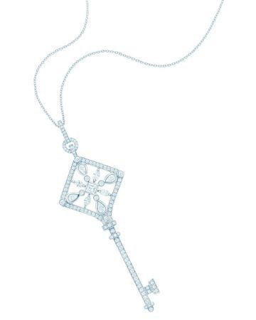 Tiffany Keys 鉑金鑲鑽萬花筒鑰匙鍊墜 NT$630,000 (鍊墜價格,不含項鍊)