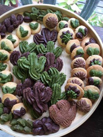 周年慶現場準備可愛的仙人掌餅乾