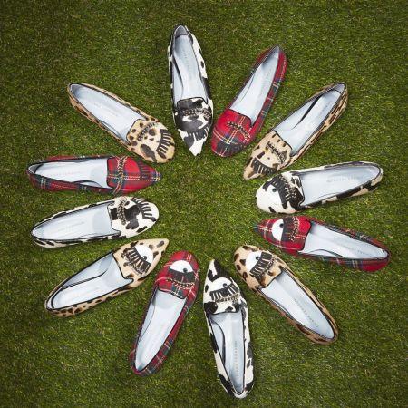 豹紋眉環尖頭鞋 / 乳牛紋眉環尖頭鞋 / 紅格紋眉環尖頭平底鞋 $15,800豹紋眉環樂福鞋 / 乳牛紋眉環樂福鞋 / 紅格紋眉環樂福鞋 $13,600