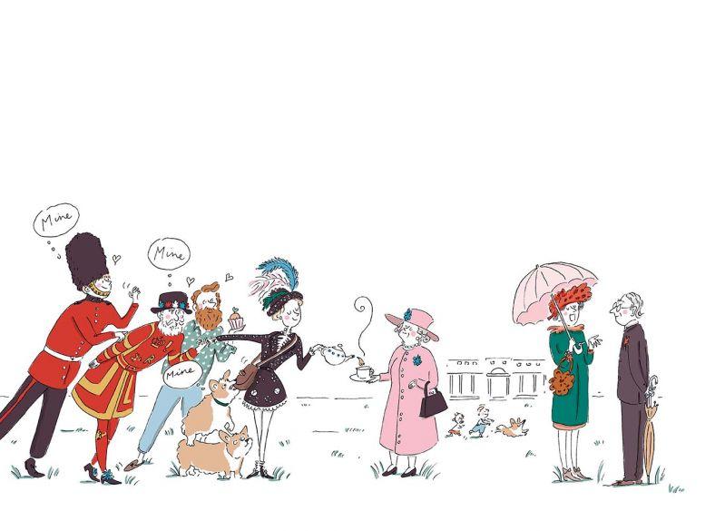 4_London 周一下午,Delvaux小姐將帶著可愛的Mutin Mini參訪白金漢宮。想想看,有誰能比Mutin Mini更適合陪伴她出席皇家的下午茶派對呢?