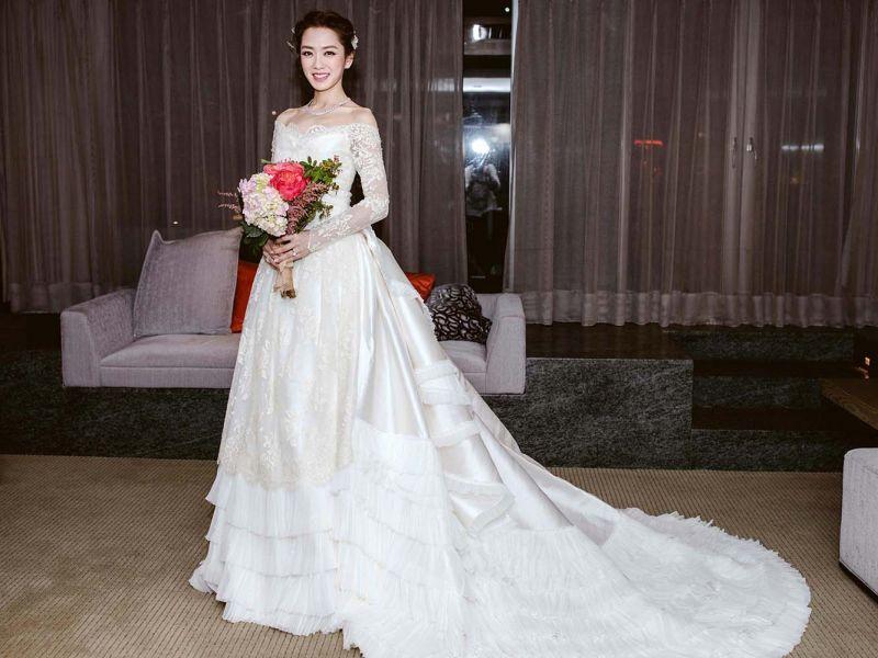 MS IDEAS打造以維多利亞時期為靈感的的婚宴白紗