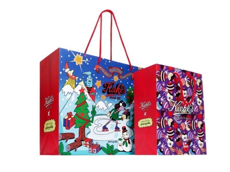 Kiehl's X Jeremyville 聖誕限量版購物袋