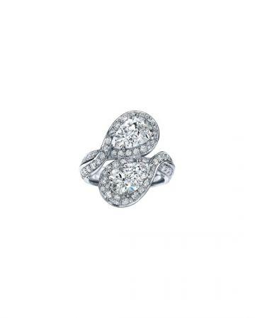 Tiffany 2016 Masterpieces 鉑金鑲嵌3.05克拉梨形切割鑽石戒指