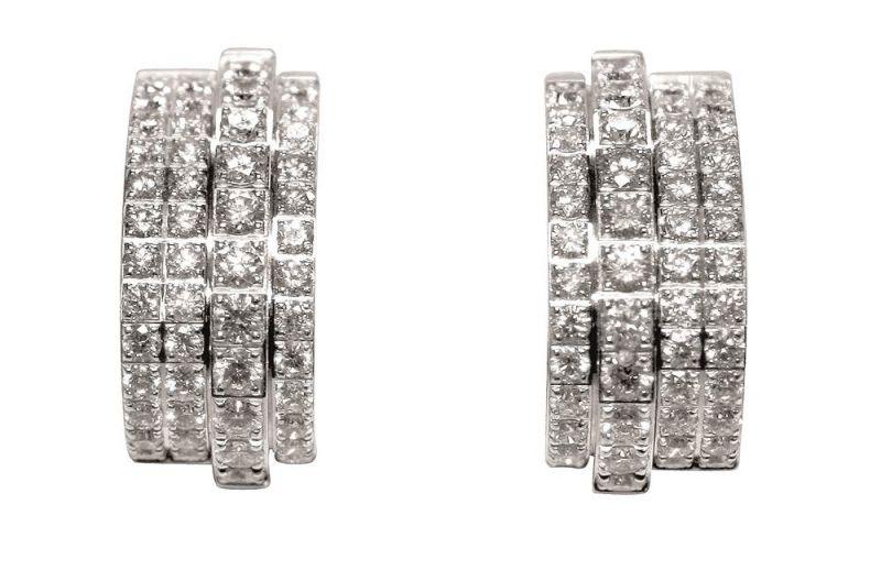 Possession18K白金耳環鑲嵌100顆美鑽(約1.85克拉)台幣參考售價 487,000元