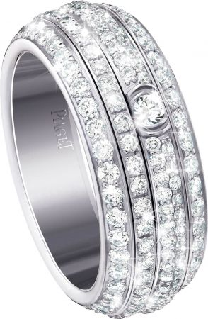 Possession18K白金指環鑲嵌234顆圓形美鑽(約2.20克拉)台幣參考售價540,000元