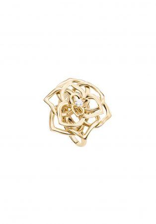 Piaget Rose18K玫瑰金指環鑲嵌單顆圓形美鑽(約0.06克拉)台幣參考售價105,000起