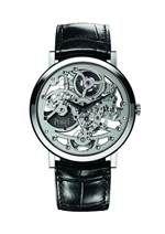 Altiplano 超薄鏤空腕錶38毫米18K白金錶殼搭載伯爵製1200S超薄鏤空自動上鍊機械機芯鱷魚皮錶帶針扣式錶釦台幣參考售價 1,900,000元