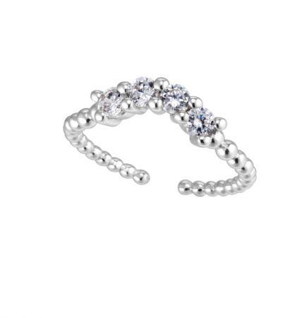 ARTĒ Minimal迷你戒指系列Crown晶鑽尾戒 NT$4,000